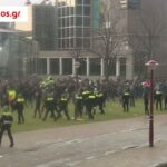 Ολλανδία: Χάος στο Άμστερνταμ, διαδήλωση χιλιάδων κατά lockdown (φωτο-βίντεο)